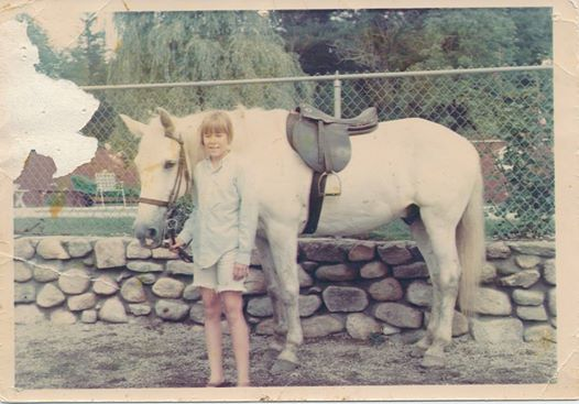 Jeannie Brett with Dapper, Her Camp Horse